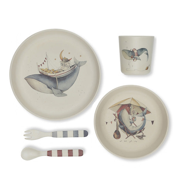 Konges Sløjd Dinner Set - Whale