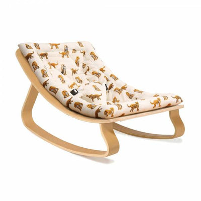 Charlie Crane LEVO Baby Rocker in Oak - Jaguar