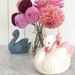 Lapin & Me Swan Night Light – Rose Vanilla