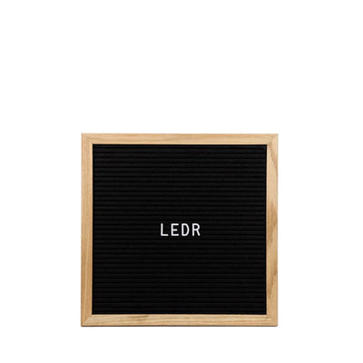 LEDR Letter Board 30×30 – Black