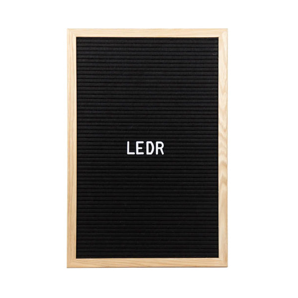 LEDR Letter Board 30×45 – Black