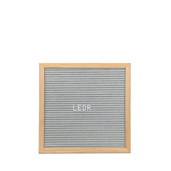 LEDR Letter Board 30×30 – Grey