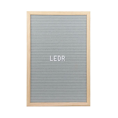 LEDR Letter Board 30×45 – Grey