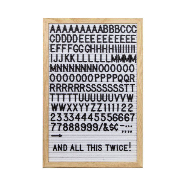 LEDR Letterset for Letter Board – Black