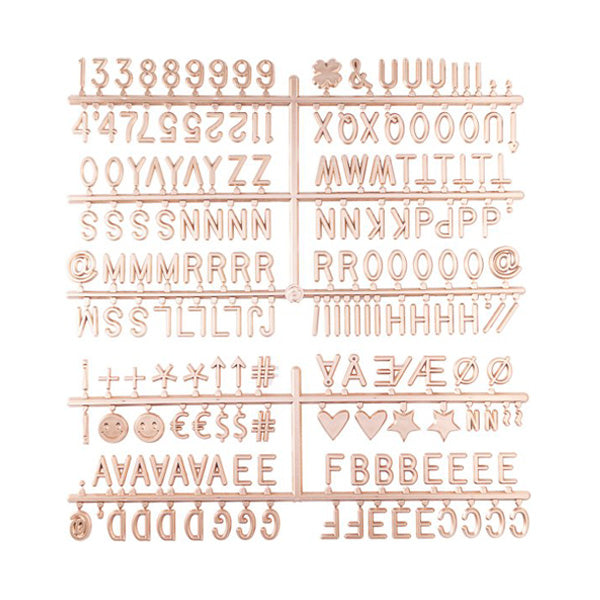 LEDR Letterset for Letter Board – Rose Gold