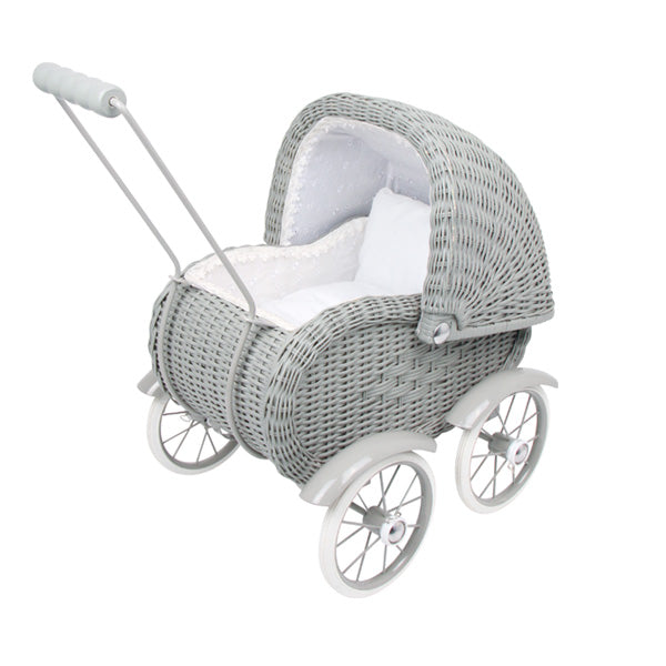 Legler Small Foot Dolls Pram –  Vintage Grey