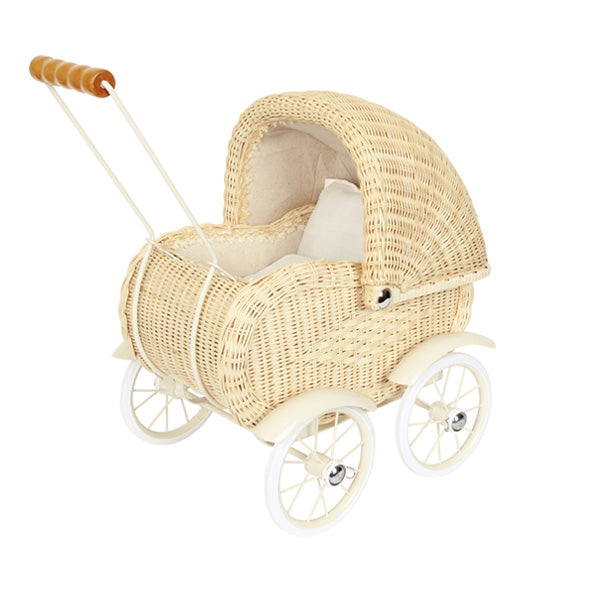 Legler Small Foot Dolls Pram – Wickerwork
