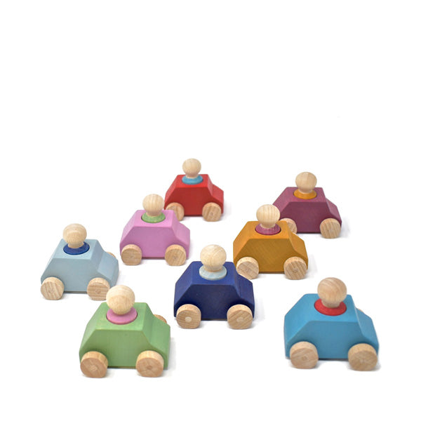 Lubulona Wooden Toy Car - Pack of 8