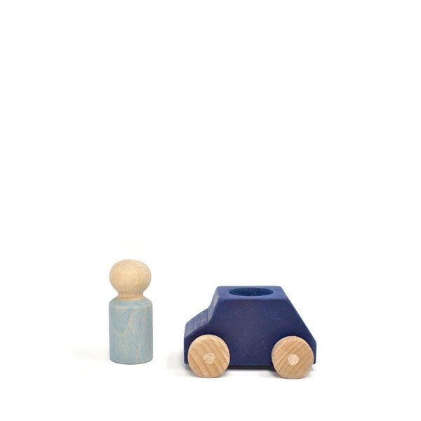 Lubulona Wooden Toy Car - Dark Blue