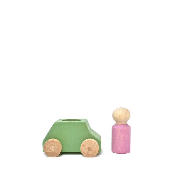 Lubulona Wooden Toy Car - Mint