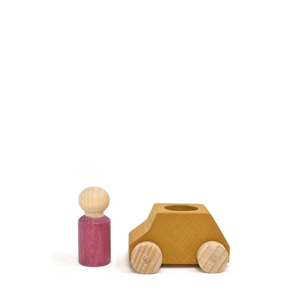 Lubulona Wooden Toy Car - Ochre