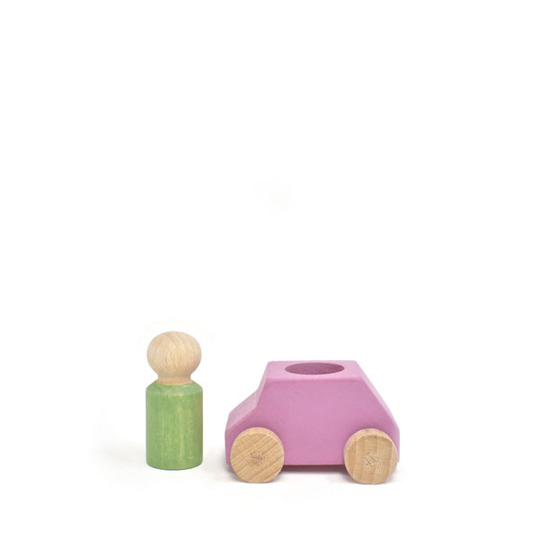 Lubulona Wooden Toy Car - Pink