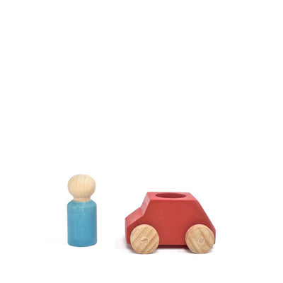 Lubulona Wooden Toy Car - Red