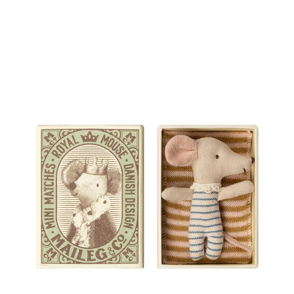 Maileg Baby Mouse - Sleepy/Wakey in Box - Boy