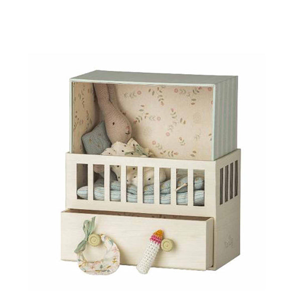 Maileg Baby Room with Micro Rabbit