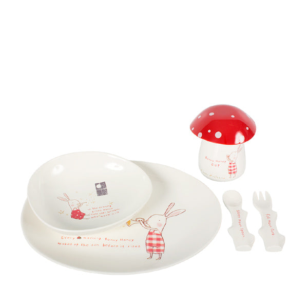 Maileg Bunny Honey Melamine Set 6 parts
