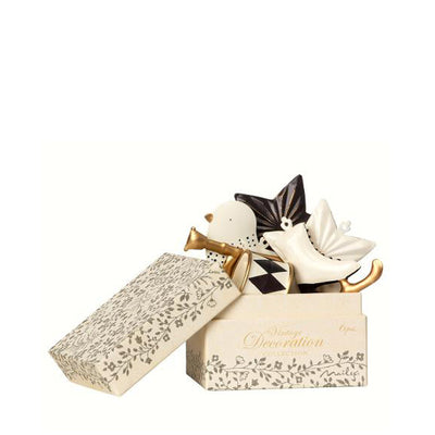 Maileg 6 Ornaments in Box – Antracite/Gold