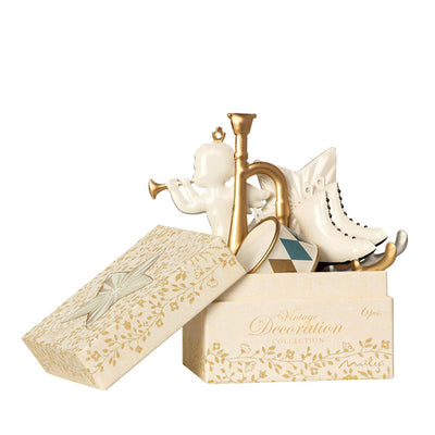 Maileg Ornament Box, Metal 6 ass. - White/Gold