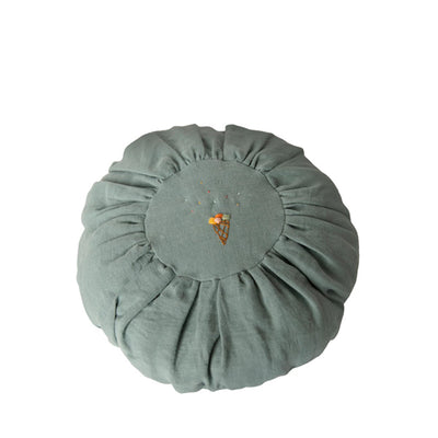 Maileg Cushion Round - Dusty Blue