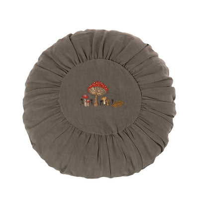 Maileg Cushion Round Large - Green Mushrooms
