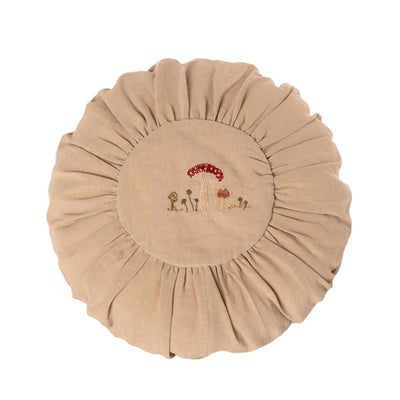 Maileg Cushion Round Large - Sand Mushrooms