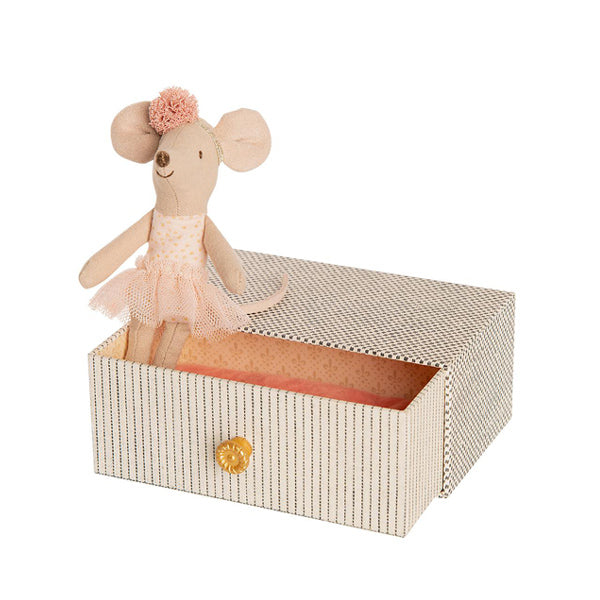 Maileg Dancing Mouse in Daybed - Little Sister