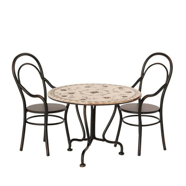 Maileg Dining Table Set with 2 Chairs