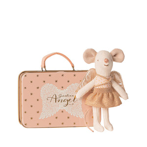 Maileg Guardian Angel in Suitcase - Little Sister Mouse