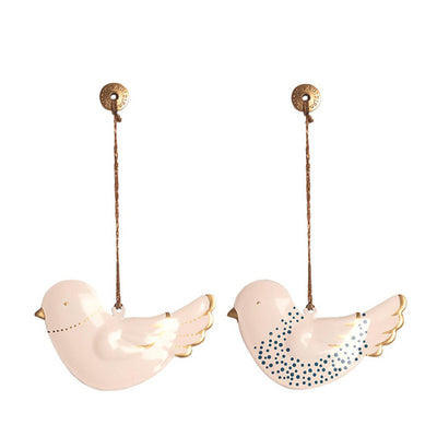 Maileg Metal Bird Ornament - Set of 2