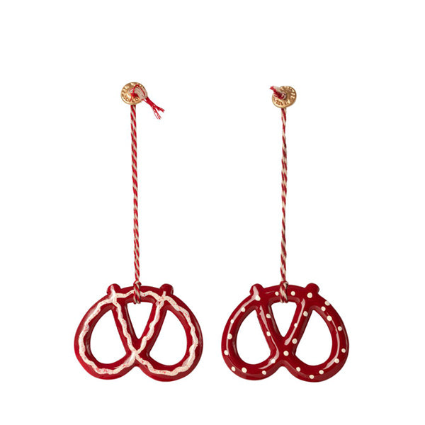 Maileg Metal Pretzel Ornament - Set of 2
