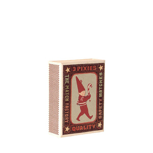 Maileg Metal Ornaments In Matchbox - 3 Pixies