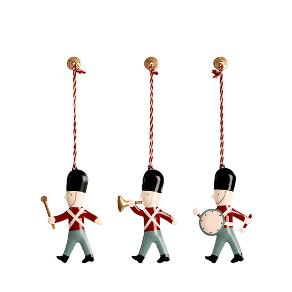 Maileg Metal Ornaments In Matchbox - 3 Guards