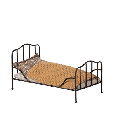 Maileg Vintage Bed, Mini - Anthracite