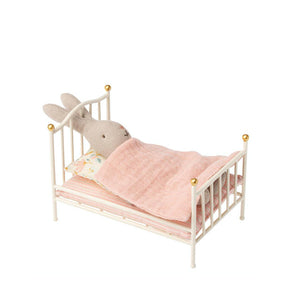 Maileg Metal Vintage Bed, Mouse - Off white