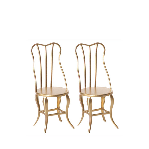Maileg Vintage Chair Micro 2 Pack – Gold