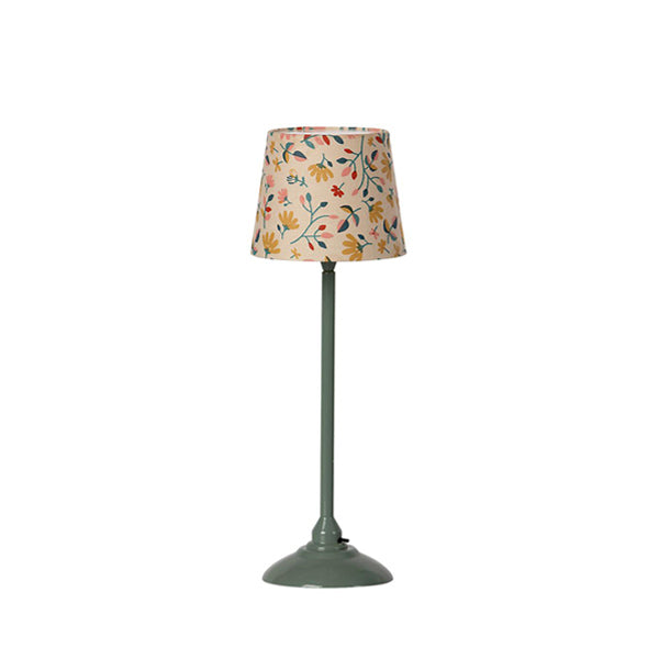 Maileg Miniature Floor Lamp - Dark Mint