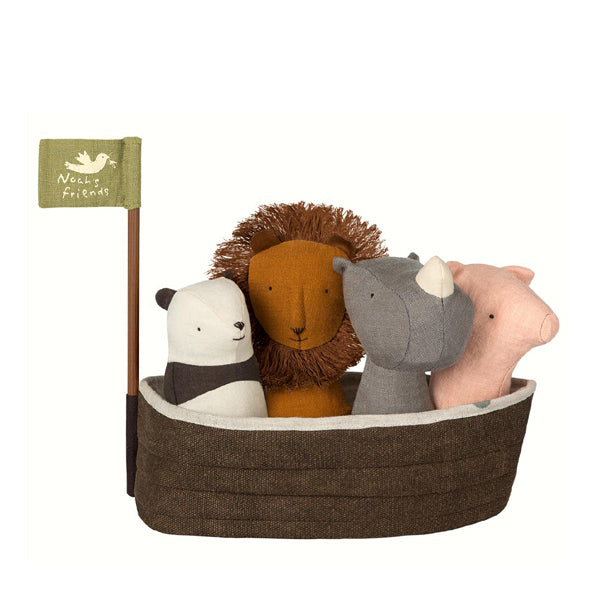 Maileg Noah's Ark with 4 Rattles