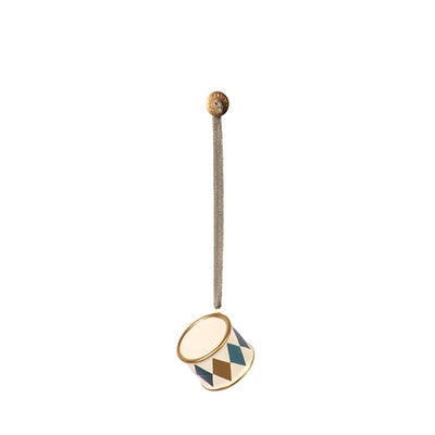 Maileg Metal Ornament - Drum Gold