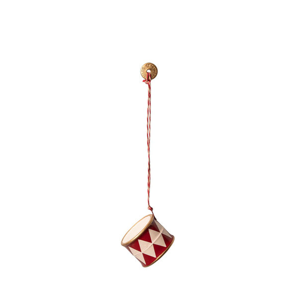Maileg Metal Ornament - Drum Red