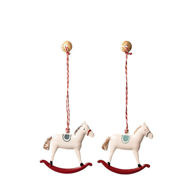 Maileg Metal Ornament 2 ass. - Rocking Horse