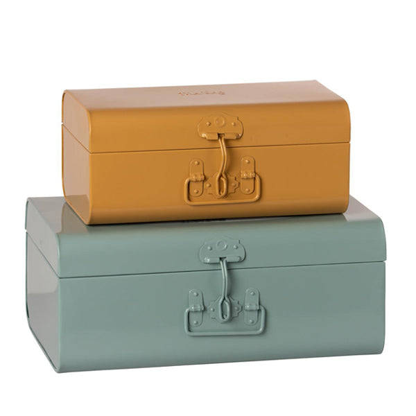 Maileg Storage Suitcase Set - Blue/Ocher