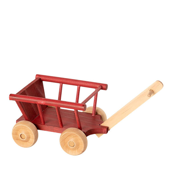 Maileg Wagon, Micro - Dusty Red