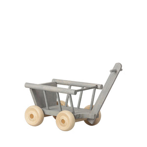 Maileg Wagon, Micro - Mint/Grey