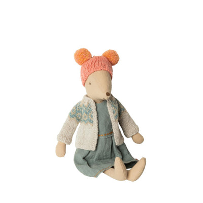 Maileg Winter Mouse - Medium - Girl