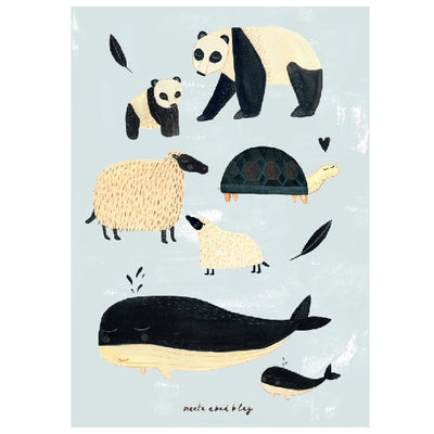 Marta Abad Blay Poster Black and White Animals - Grey