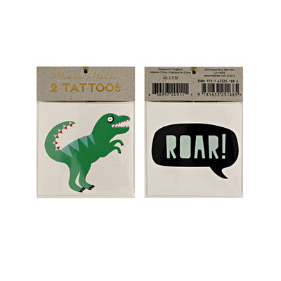 Meri Meri Dinosaur and Roar Tattoos