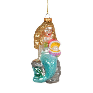 Glass Shaped Christmas Bauble - Mermaid