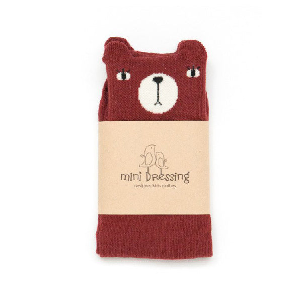 Mini Dressing Red Bear Knee Socks
