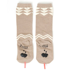 Mini Dressing Beige Snake Knee Socks
