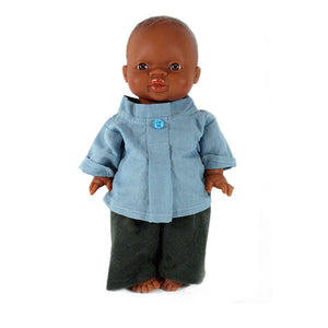 Minikane Paola Reina Baby Doll Ensemble GIORGIO – Blue / Denim